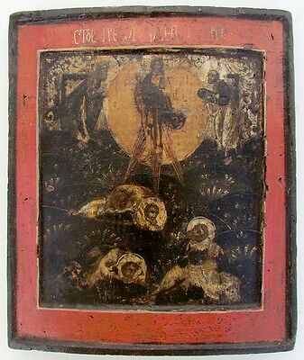 18th CENTURY ANTIQUE RUSSIAN ICON CHRIST TRANSFIGURATION