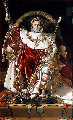 Ingres - Emperor Napoleon I on His Imperial Throne Oil Painting repro