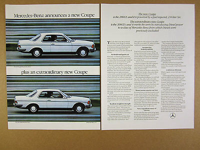 1978 Mercedes-Benz 280CE & 300CD white coupe cars photo vintage print Ad