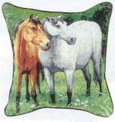 Decorative Pillow HORSES in Green Pasture Pillow CLEARANCE SALE