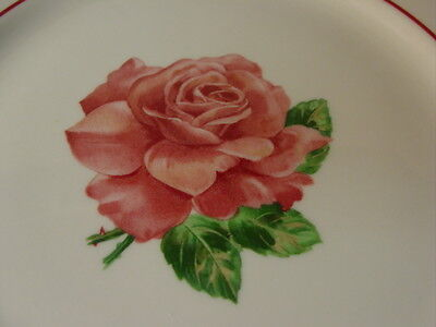 "Vintage Syracuse China Pink Roses Pattern 9 1/2"" Dinner Plate"