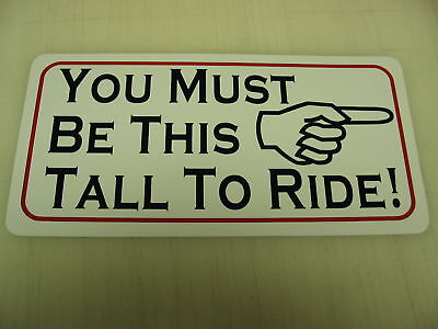 THIS TALL TO RIDE Metal Sign 4 Fair Carnival Roller Coaster Man Cave Motorcycle