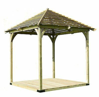 Forest Wooden Venetian Pergola with Deck - 9 x 9ft. From the Argos Shop on ebay