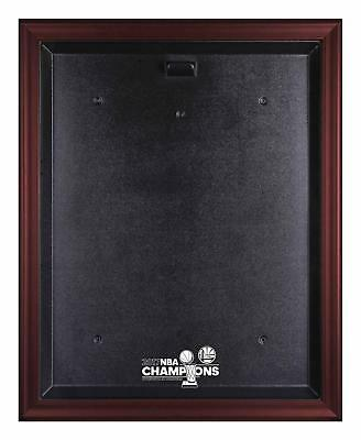 GS Warriors 2017 NBA Finals Champs Logo Mahogany Framed Jersey Display Case