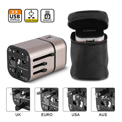 Universal Travel USB Charger Adapter Converter USB Power Outlet US/AU/UK/EU Plug