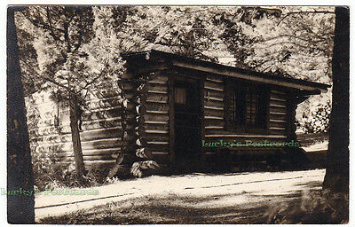 ELEPHANT HEAD LODGE Yellowstone National Park WYOMING -1953 Photo POSTCARD Cabin