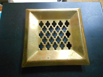 FRENCH Vintage gilded BRASS HEATING GRATE VENT PLAQUE