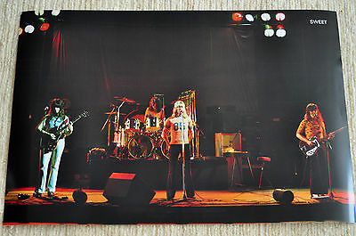 The Sweet poster Desolation Boulevard leve '74 on stage FANTASTIC poster RaRe!