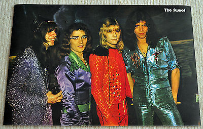 The Sweet poster photo 1974 session  FANTASTIC poster RaRe!