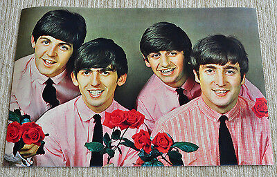 The Beatles poster Beatles with roses promo poster '63 period RaRe!!!