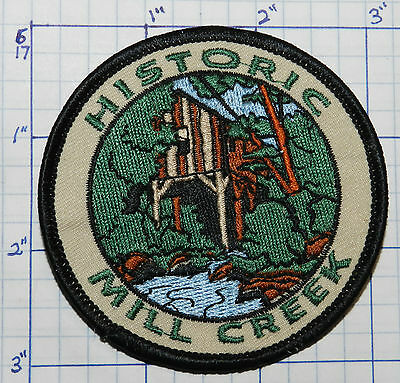 Michigan, Historic Mill Creek Discovery State Park Souvenir Travel Patch