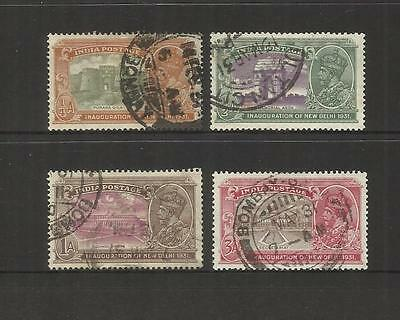 India ~ 1931 Inauguration Of New Delhi King George V (Part Used Set)