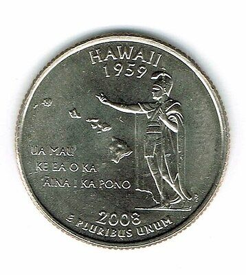 2008-P Brilliant Uncirculated US Hawaii 50TH State Quarter Coin!