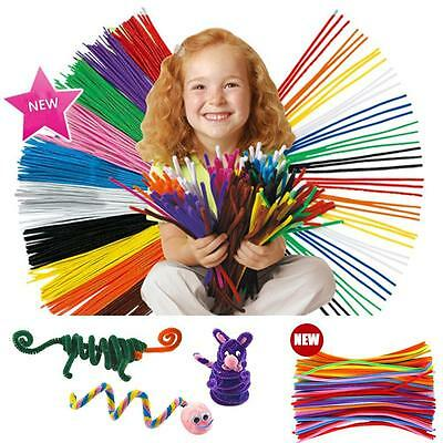 Pipe Chenille Stems Cleaners Diy 100 Craft 100pcs Pack Kids Education Toys SP