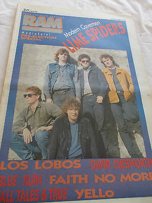 Lime Spiders - Ram-Oz Music Mag-1987- Los Lobos - Blue Ruin - Faith No More