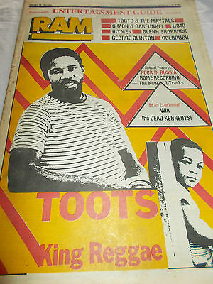 Toots & The Maytals - Ram -Oz Music Mag - 1983 - Ub40 - Hitmen - Glenn Shorrock