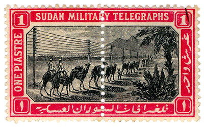 (I.B) Egypt Telegraphs : Military Telegraph 1pi