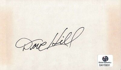 Dave Hill Signed Autographed Index Card PGA Golf Legend Masters GX15931