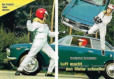 SO FRISIERT MAN AUTOS - Turbolader / Alfa Romeo 1600 GTA - Original Bericht 1968