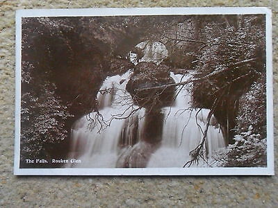 Old Real Photo Postcard Of Rouken Glen,the Falls.posted 19.4.1927.