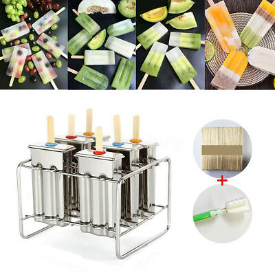 6Molds Onyx Stainless Steel Popsicle Ice Cream Stick Holder Mold BPA Free