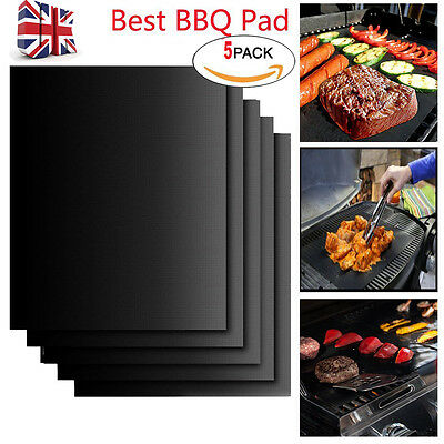 5X Miracle BBQ Grill Mat Resistant Reusable Non-Stick Barbecue Baking Bake Meat