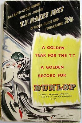 TT Isle of Man Motorcycle Racing Official Programme 1957
