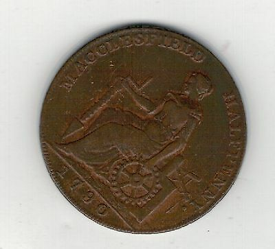 1790 Macclesfield Halfpenny. Vf.cond.  Only. See Pictures