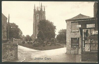 Stratton Town Cornwall Bude Vintage Frith Printed Postcard