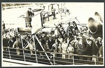 Emperor Pleasure Steamer/Ferry Bournemouth 1930 Bailey Real Photo Postcard