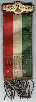 Canadian Order of Foresters Brant Court No 85 Brantford Ontario Ribbon