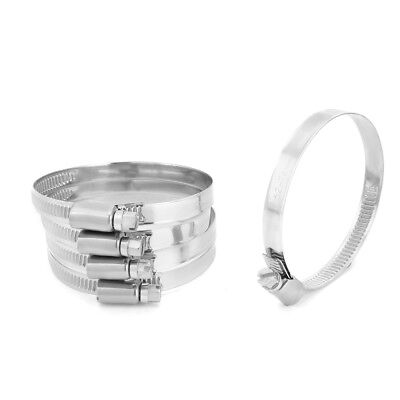 52mm to 76mm Dia Range 304 Stainless Steel German Type Hose Clamp Hoop 5pcs