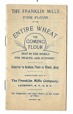 1895 Advertising Booklet Franklin Mills Fine Flour Of Entire Wheat Lockport NY