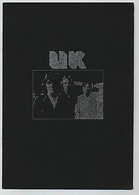 UK (Terry Bozzio, Eddie Jobson and John Wetton) - Concert In Japan JAPAN PROGRAM