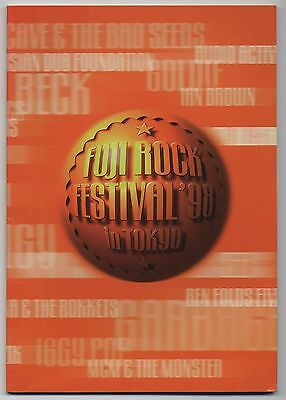 Fuji Rock Festival '98 In Tokyo JAPAN PROGRAM August 1-2 1998 Bjork, The Prodigy
