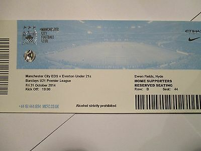 Ticket 2014 - 15 Man City U21 V Everton U21