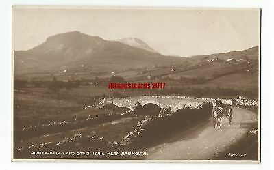 Wales Pont y Bylan & Cader Idris nr Barmouth Real Photo Vintage Postcard 13.6.1