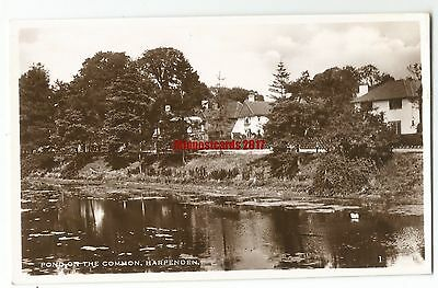 Herts Harpenden Pond on the The Common Real Photo Vintage Postcard 13.6