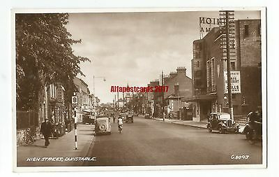 Beds Dunstable High Street Union Cinema Real Photo Vintage Postcard 13.6