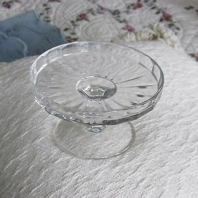 Vintage Pressed Glass Child's Doll or Bear Cake Plate Stand Compote