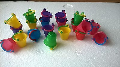 20 Buckets beach pail dolls CRAFTS / DOLLS HOUSE MINIATURES (F5218)