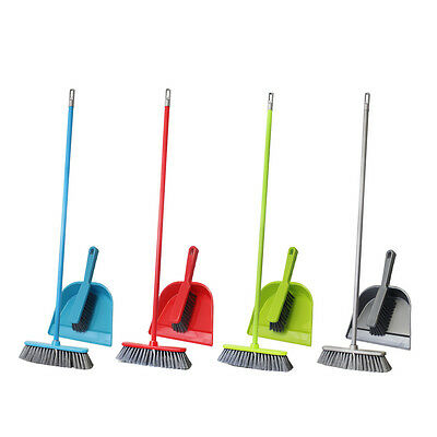 Cleaning Broom Brush Pan Soft Bristle Dust Dirt Sweeping Dustpan Kitchen Home