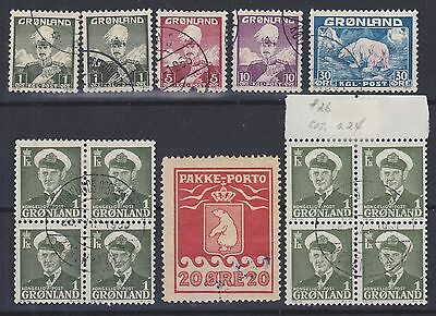 827) Greenland - Gronland 1915 / 1945  Used Selection  -