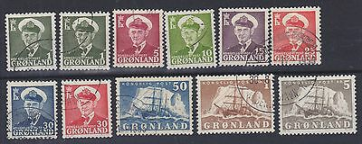 828) Greenland - Gronland 1950 / 1958   Used Selection  -