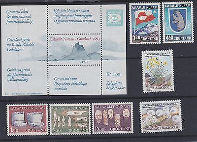 834) GREENLAND - GRONLAND 1987 / 1988  MINT NEVER HINGED SETS  - FLOWERS etc.