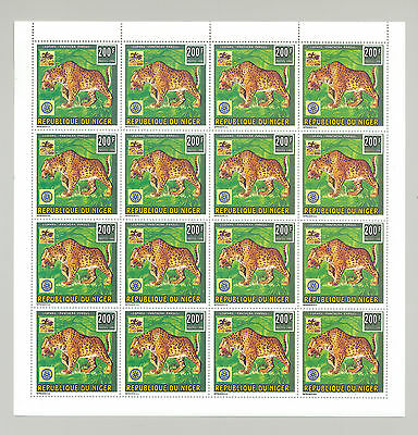 Niger #887-890 Scouts, Rotary, Animals 4v Sheets of 16 Perf & Imperf