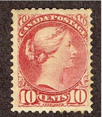 Canada #45 Small Queen F-Vf Mint Hinged  Full Og   (June22