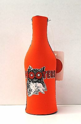 NEW Hooters Orange/White Coozie Koozie Beer Drink Soda Insulated Bottle Cooler