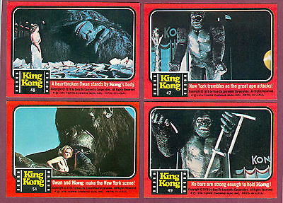 1976 Topps King Kong Movie Trading Card Rare Number 49 Of 55 Sp