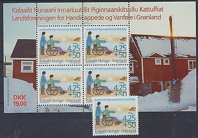 842) Greenland - Gronland 1996 Handycapped & Disabled   Mnh  Stamp + Blok